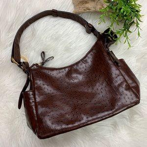 {Bueno} Faux Ostrich Adjustable Shoulder Bag